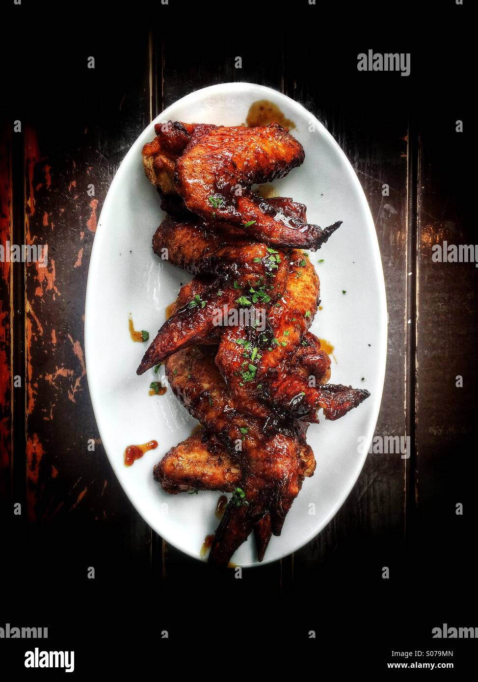 BBQ chicken wings - Stock Image