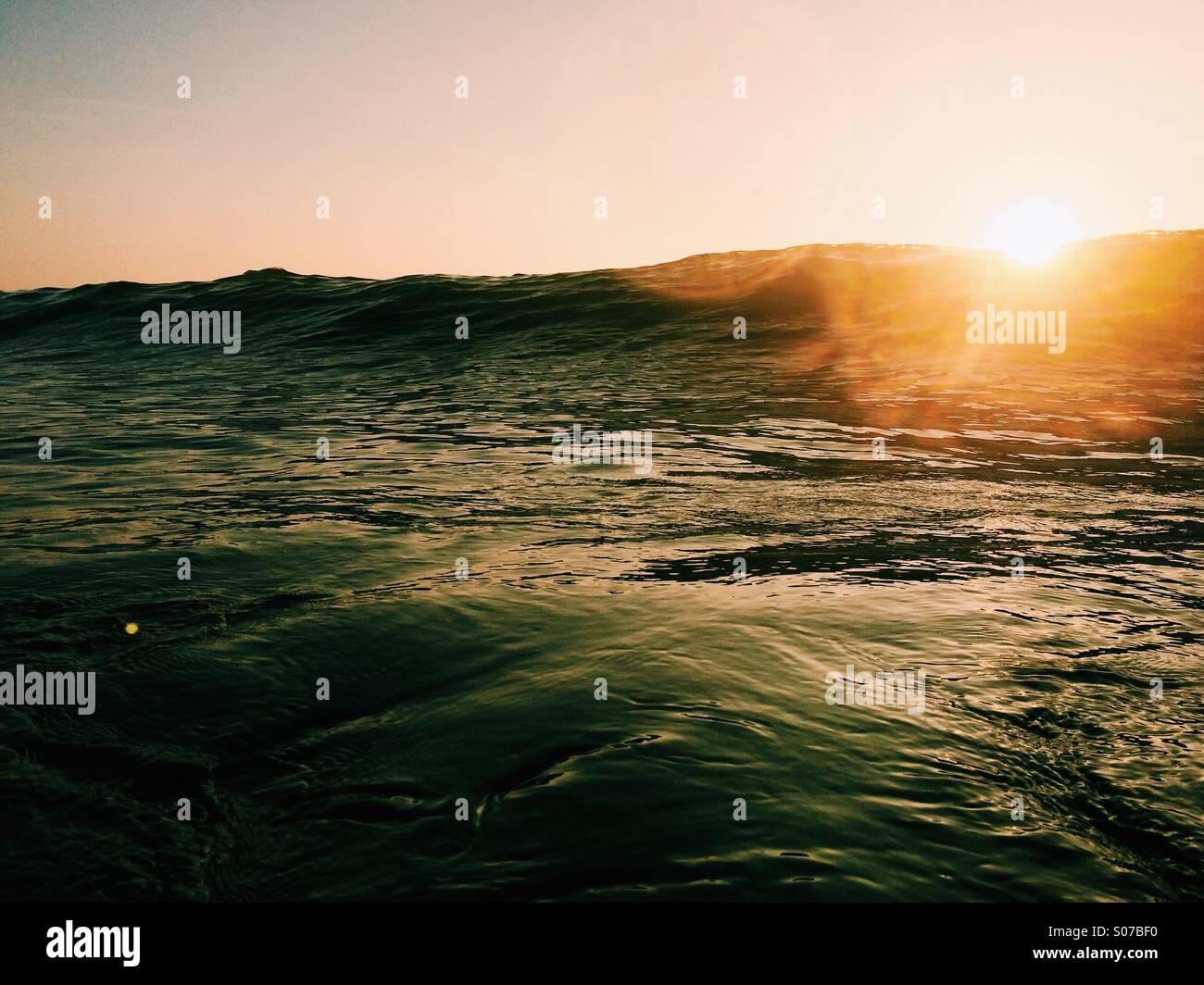 Sunlight over the sea - Stock Image