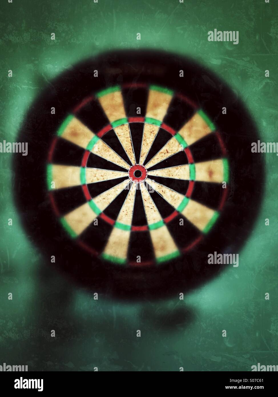 Dart target in a pub. - Stock Image