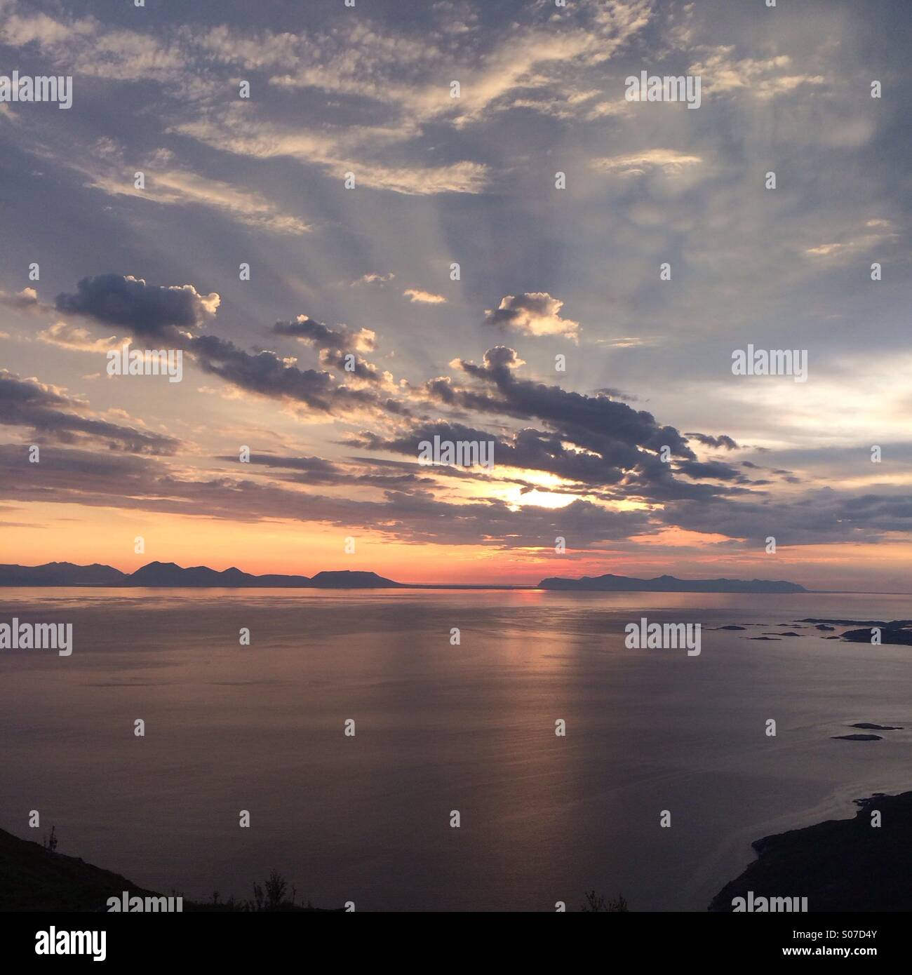 Midnightsun - Stock Image