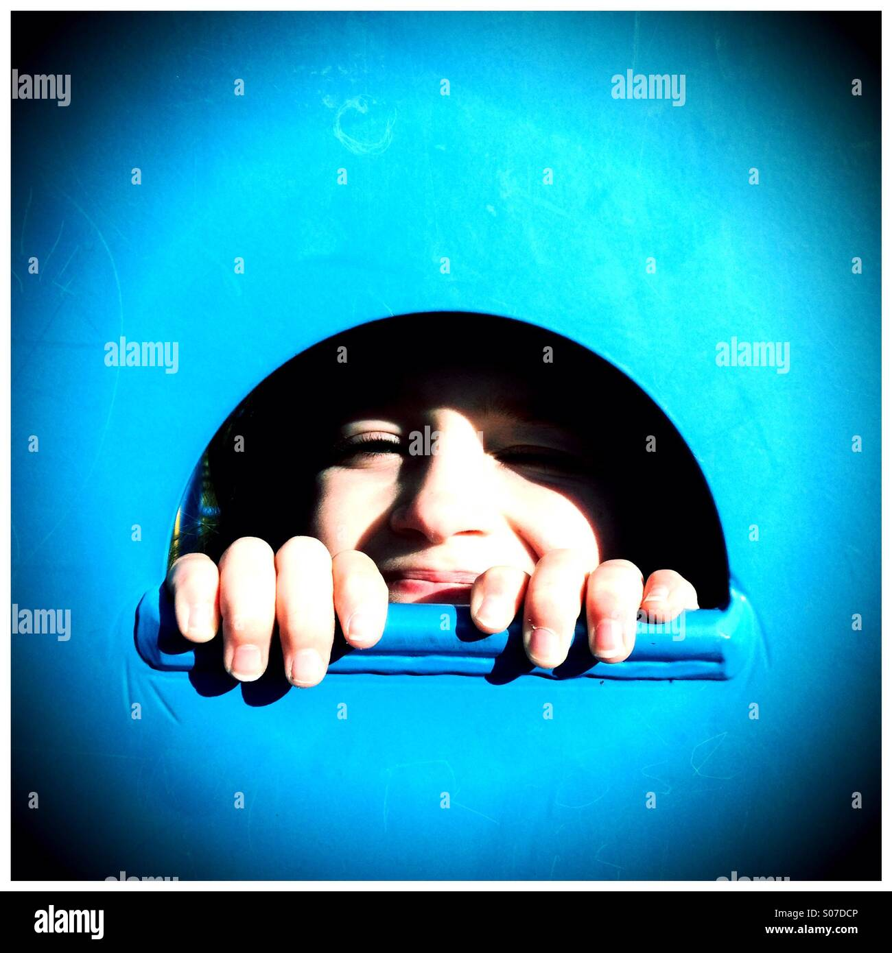 Peek-a-boo - Stock Image