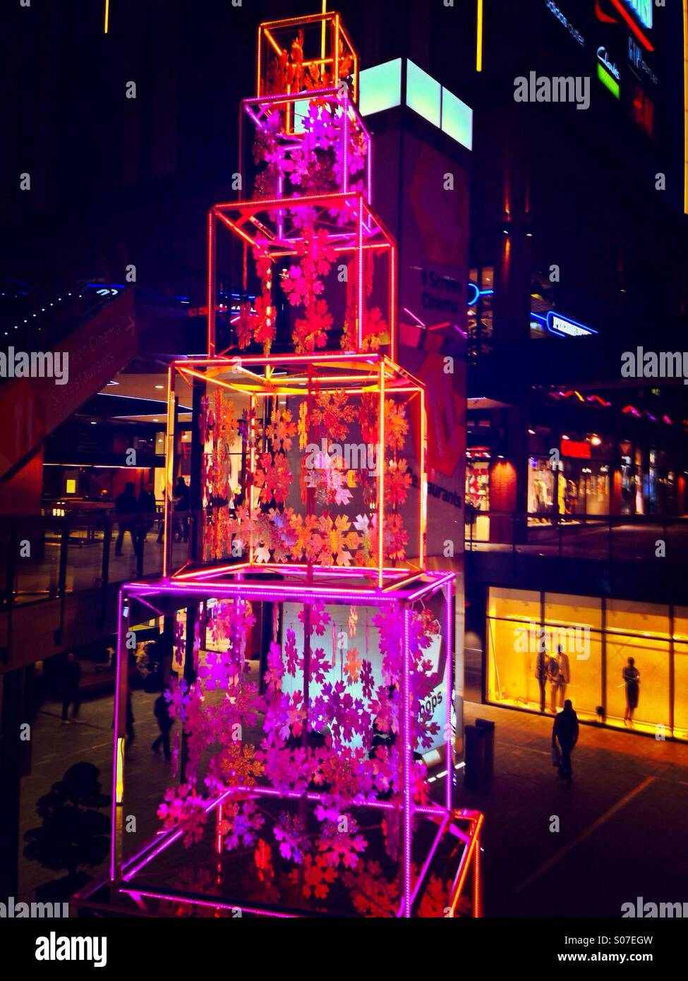 Christmas installation at the London Designer Outlet ...