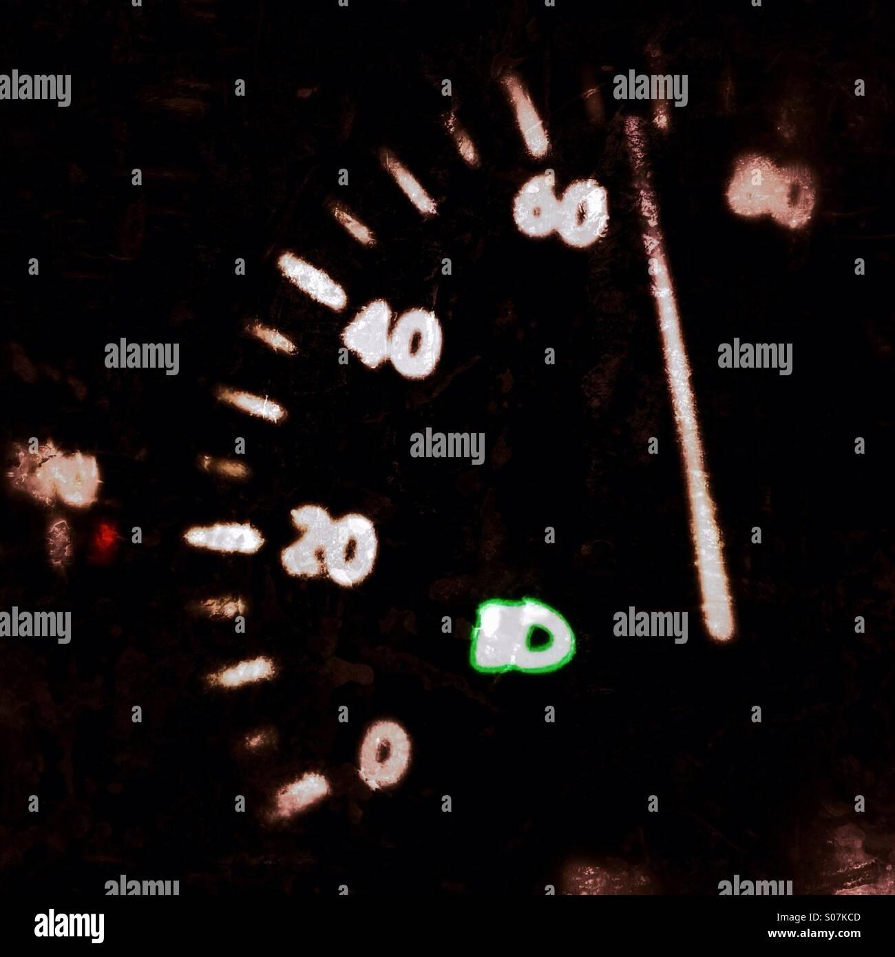 Speedometer of car Stock Photo