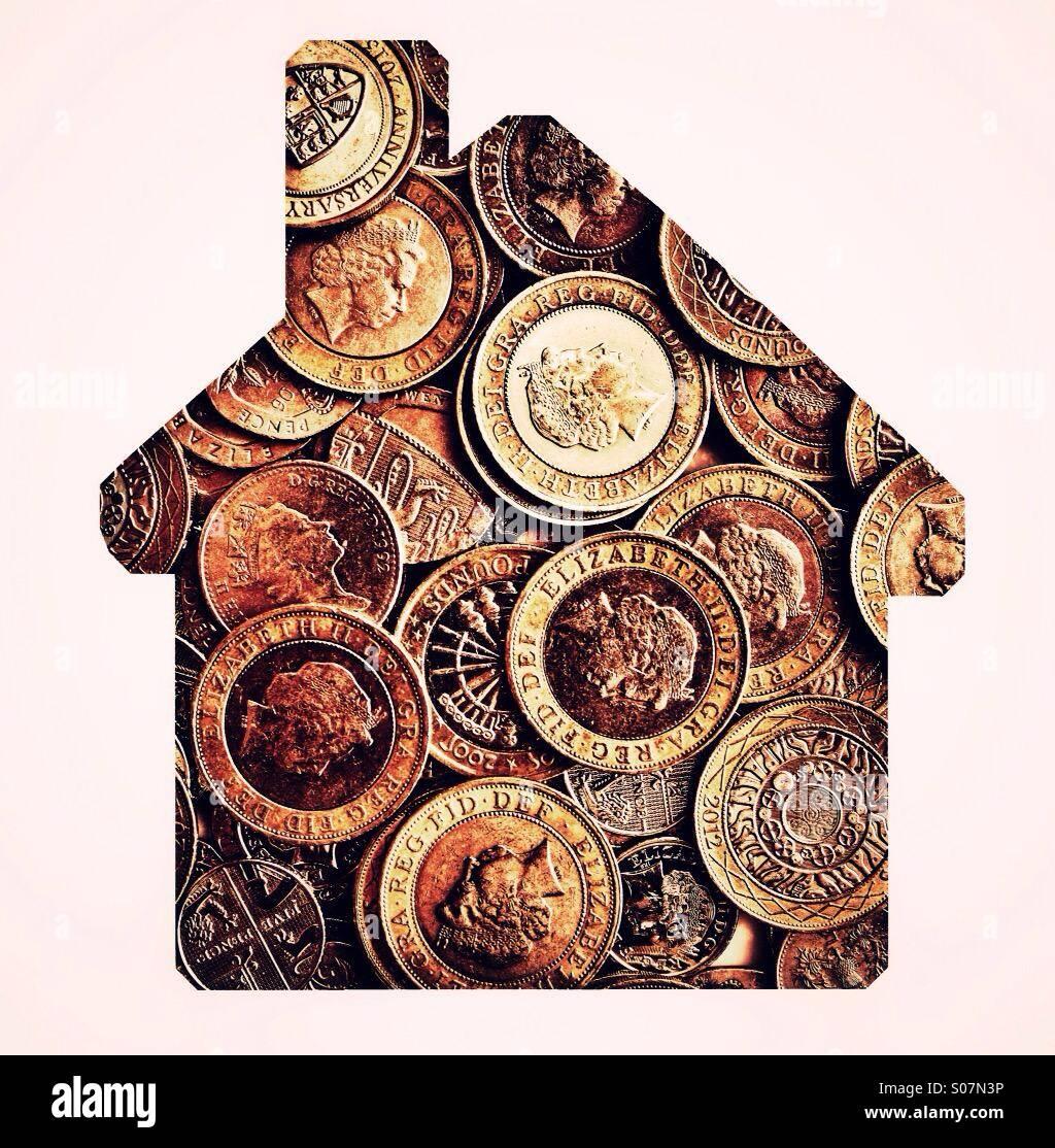 Money house - Stock Image