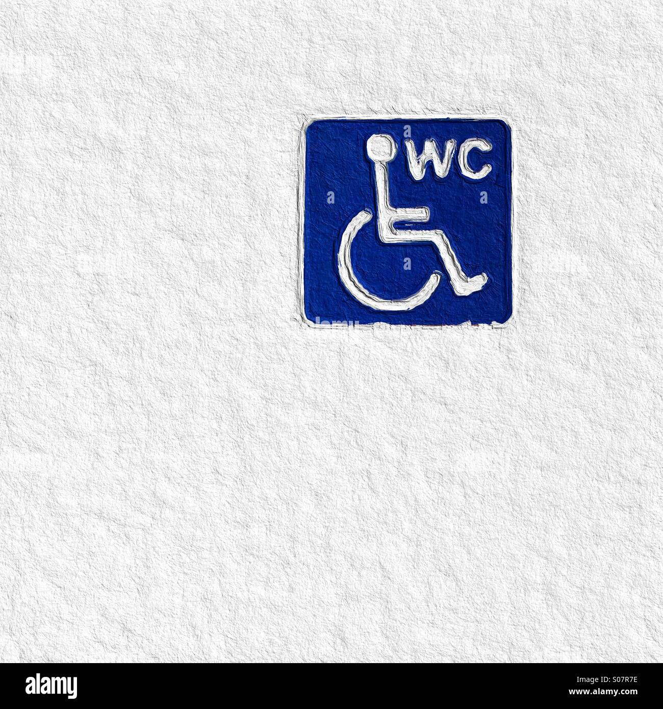Disabled WC sign - Stock Image