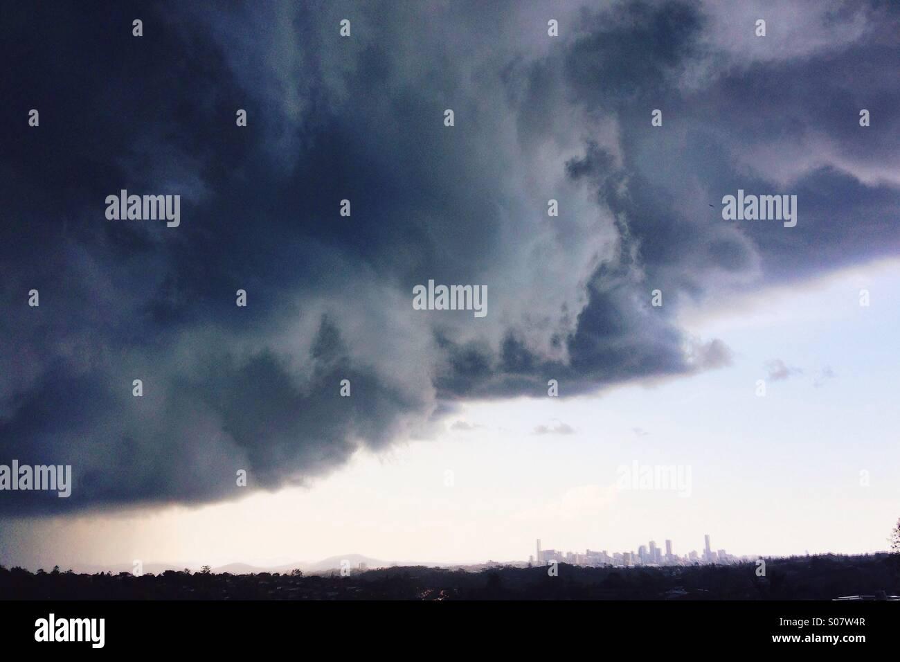 Incoming storm, Brisbane - Stock Image