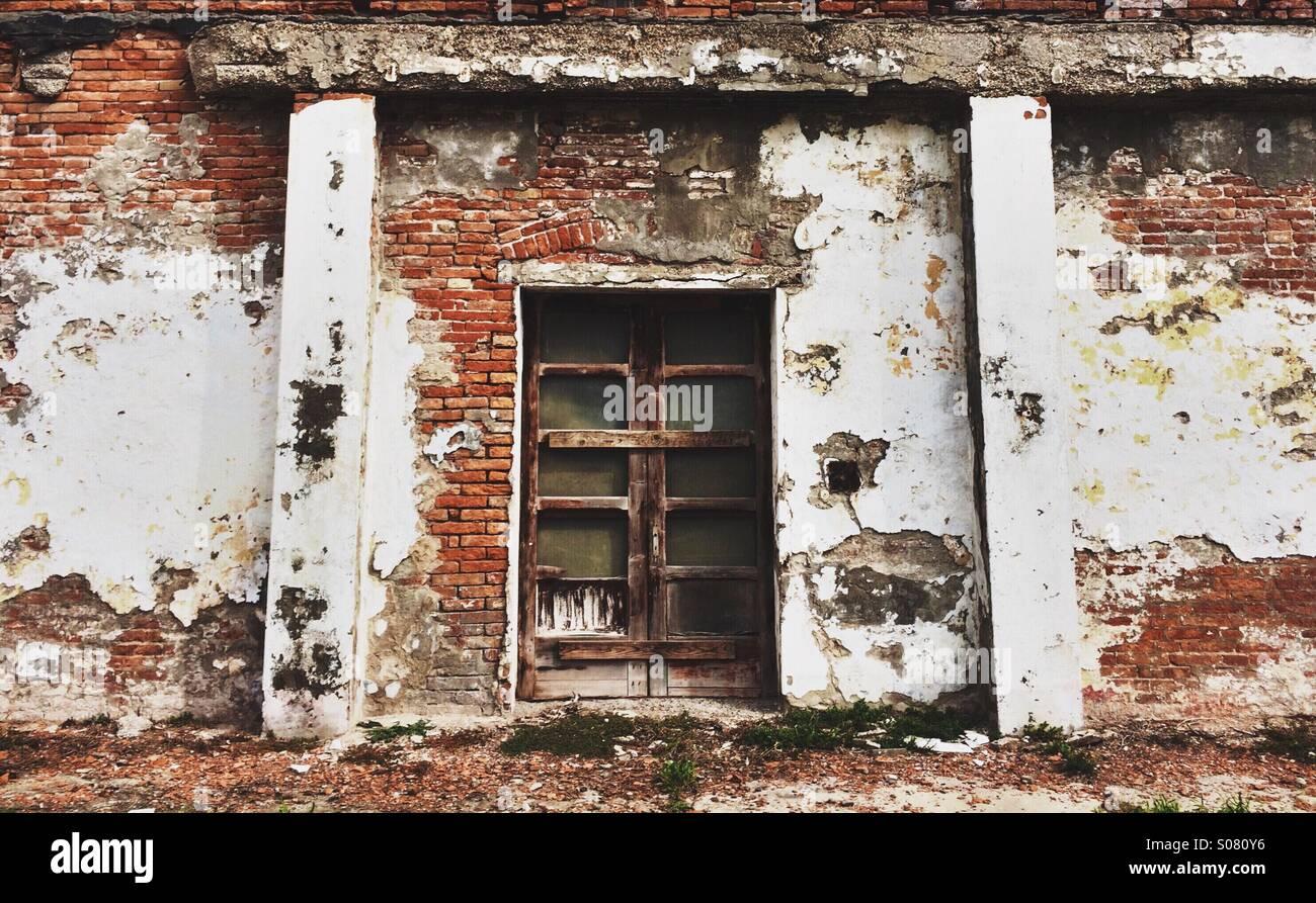 Door and Brick - Stock Image