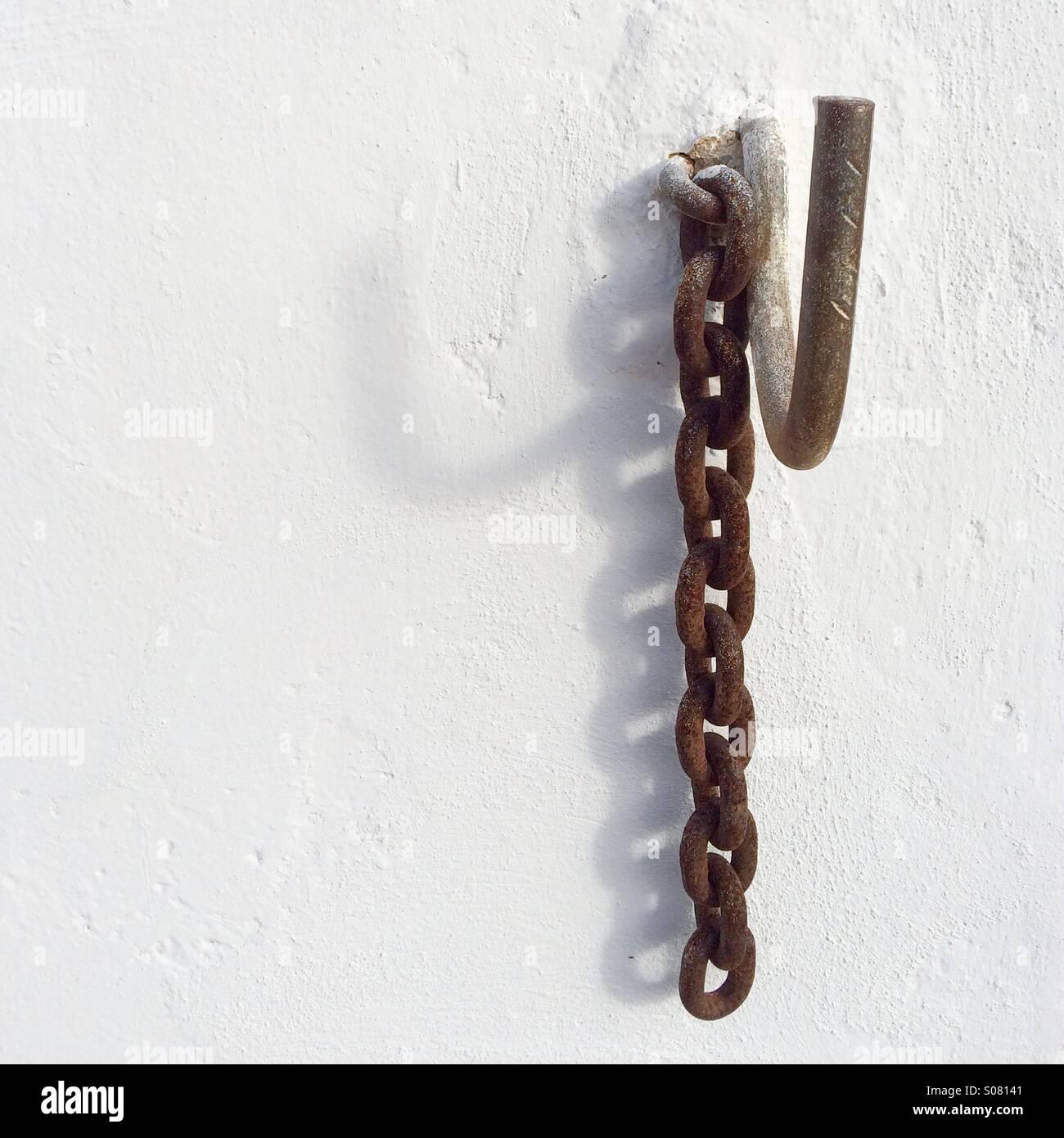 Hanging chain - Stock Image