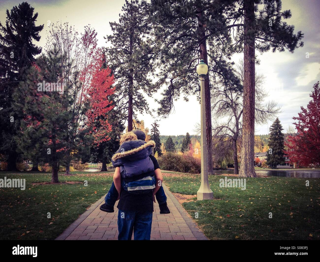 Piggy backing - Stock Image