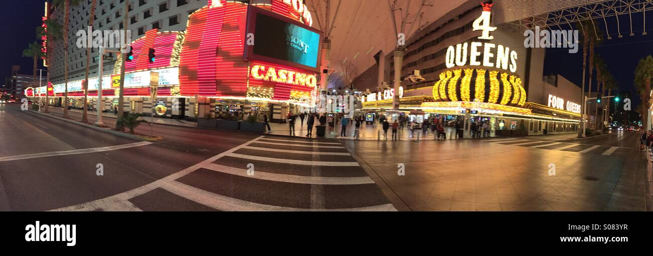 Pano on the old strip cross walk - Stock Image