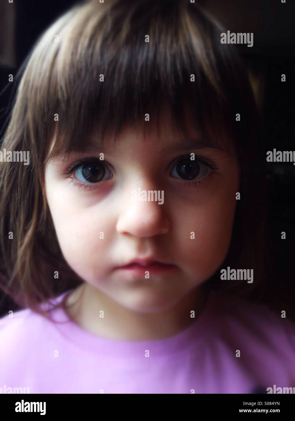Caucasian toddler girl portrait - Stock Image