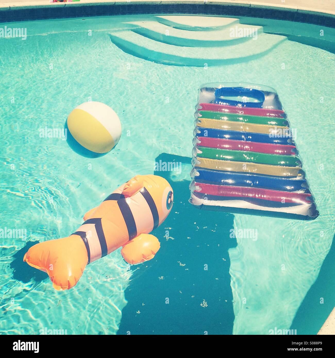 Pool toys Stock Photo