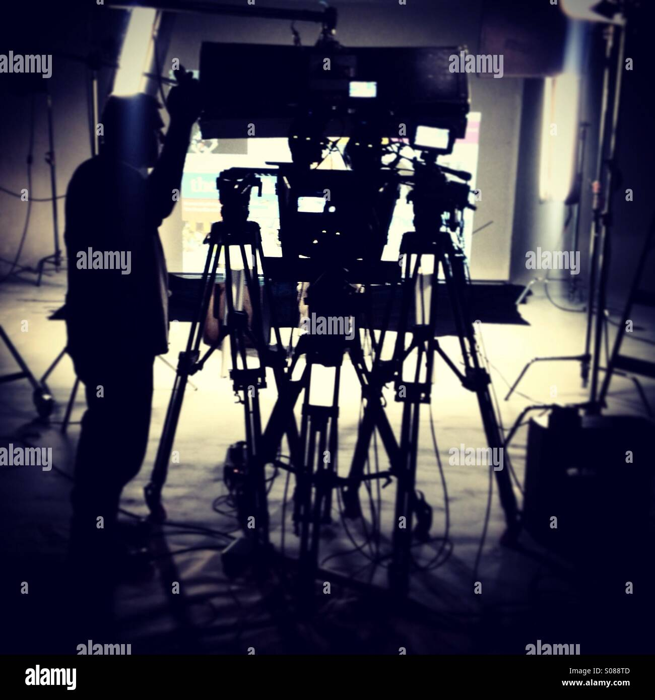 TV Studio - Stock Image