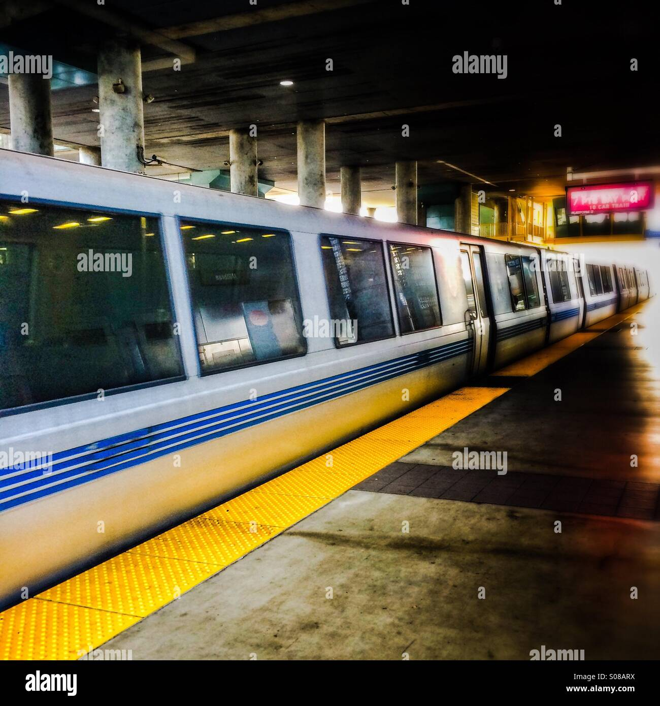 San Francisco BART Bay Area Rapid Transit train - Stock Image