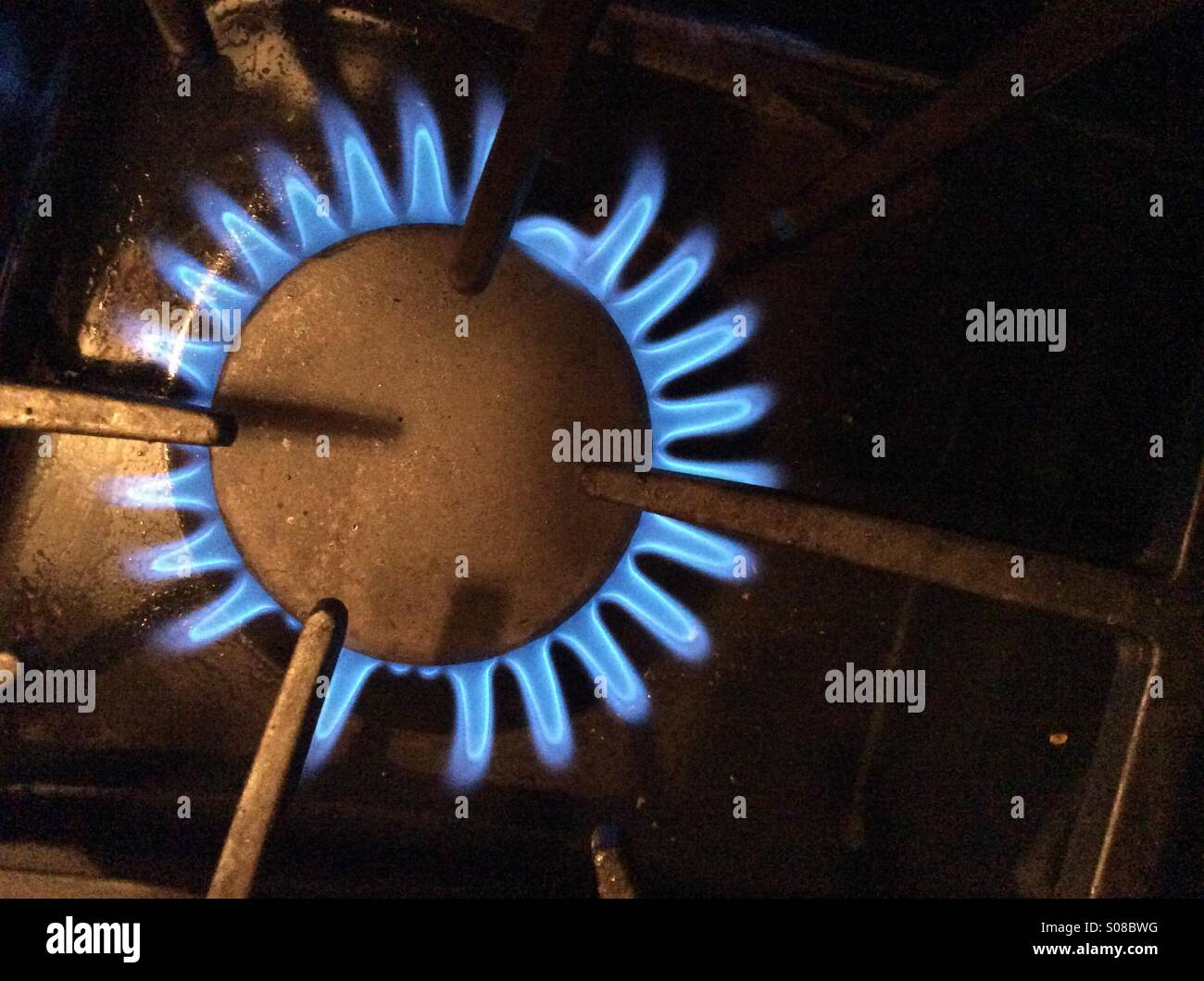 Gas stove - Stock Image