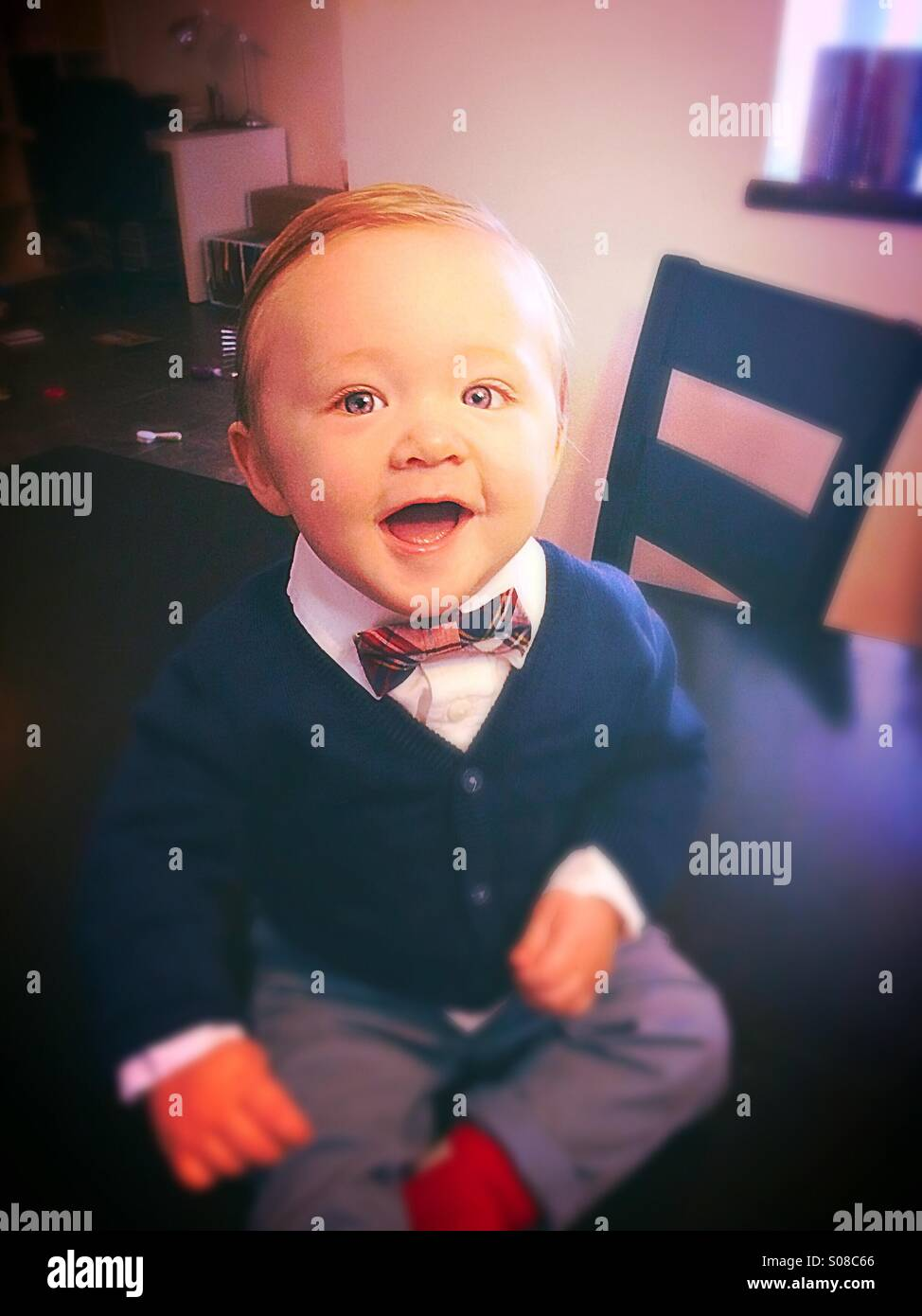 Dapper baby. - Stock Image
