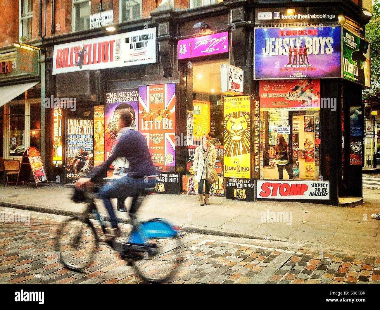 Monmouth Street, Theatreland, London - Stock Image