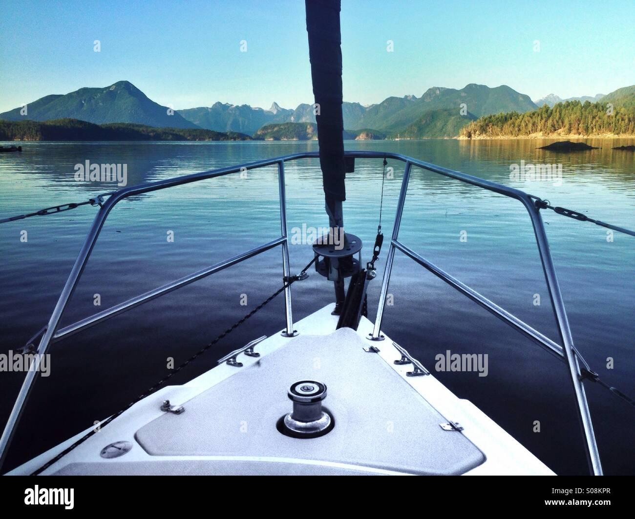 Evening at Galley Bay, Desolation Sound, BC - Stock Image