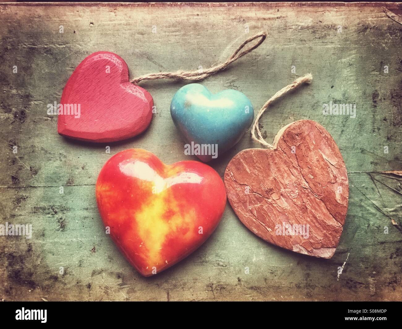 Love hearts - Stock Image