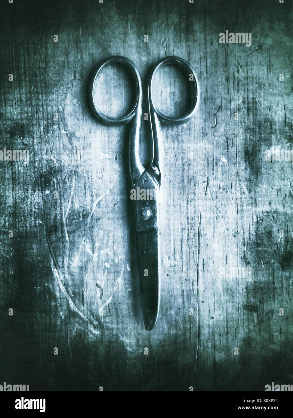 Old pair of scissors - Stock Image