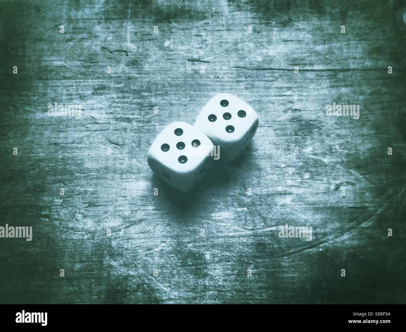 Pair of dice - Stock Image