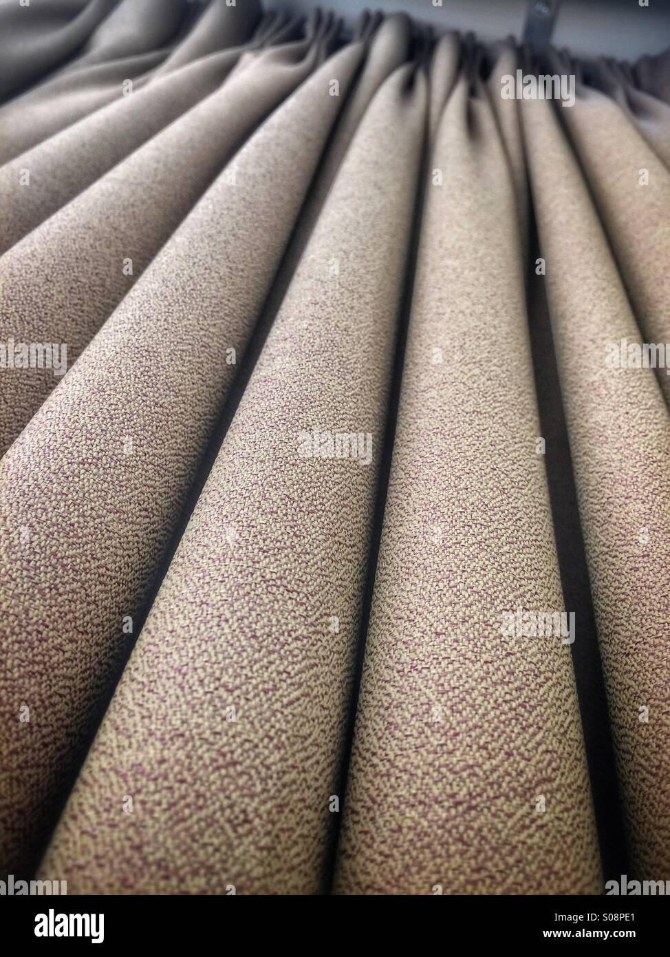 Curtain fabric folds - Stock Image