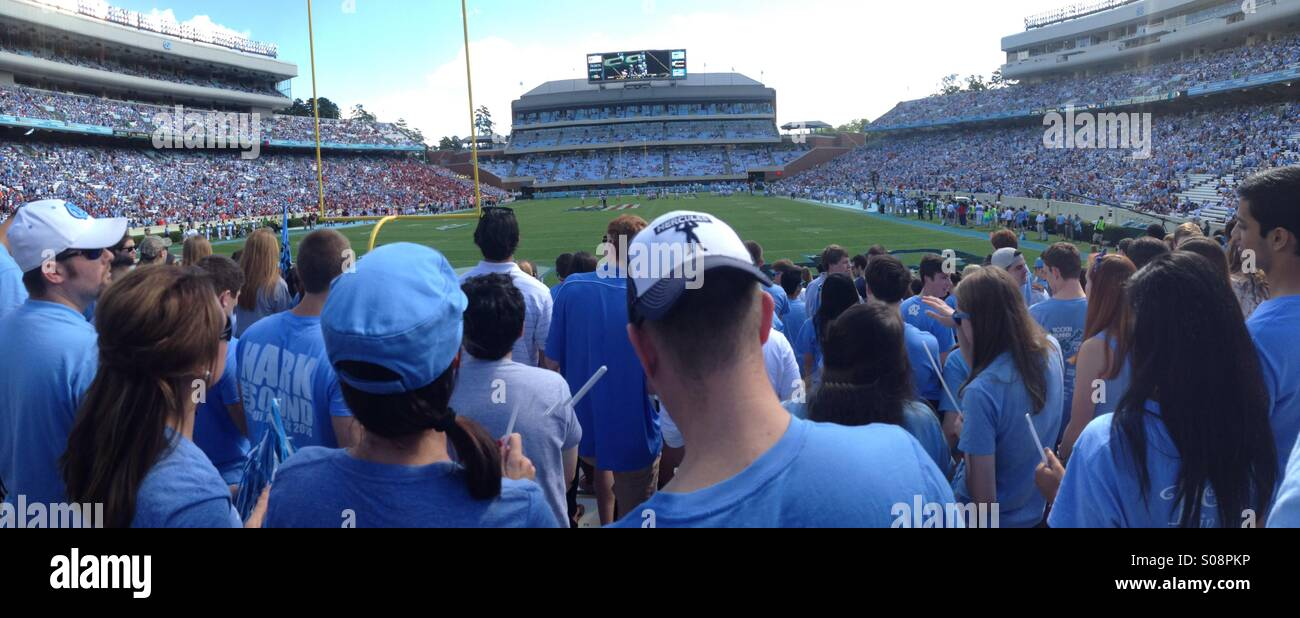 UNC Football Game view from student section - Stock Image