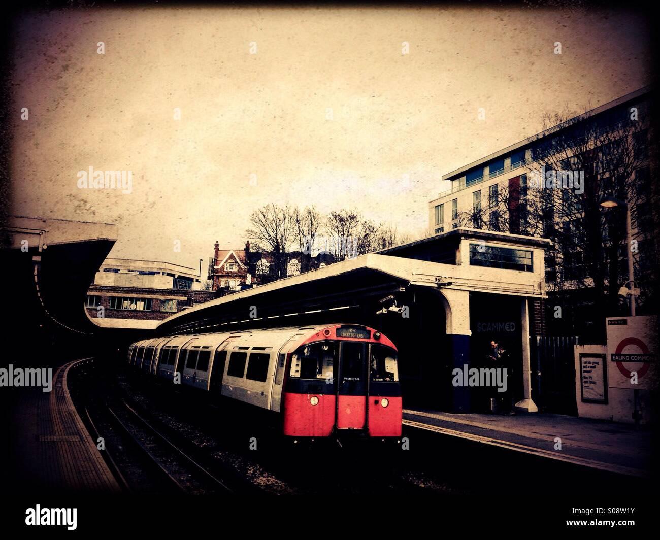 Ealing Common tube station, West London, UK Stock Photo