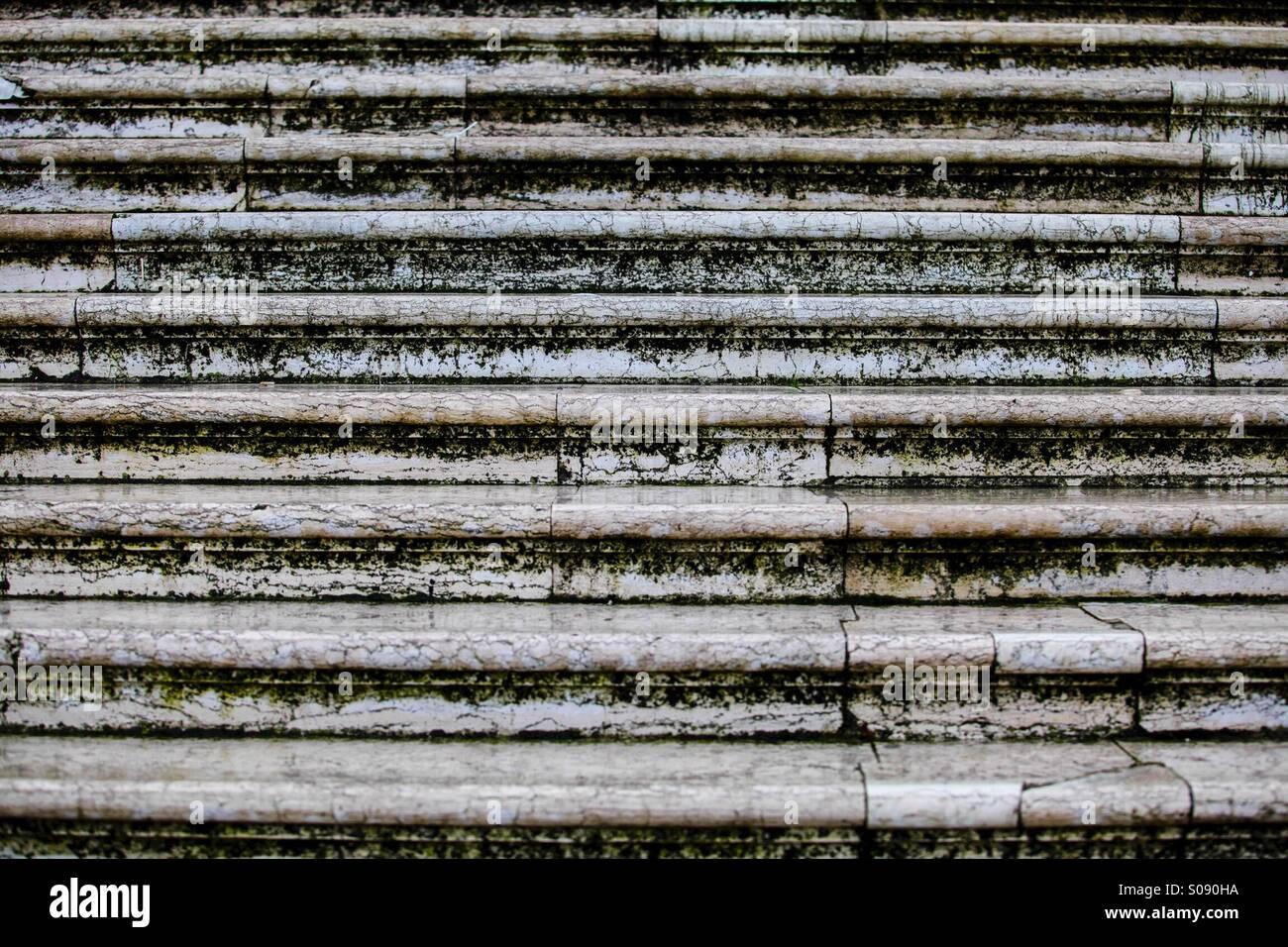 Stairs over a bridge, Venice, Italy Stock Photo