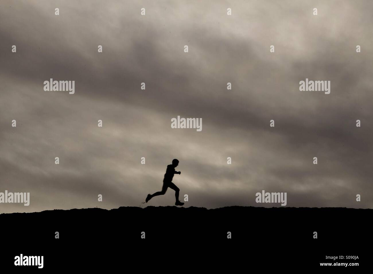 Running man 2 - Stock Image