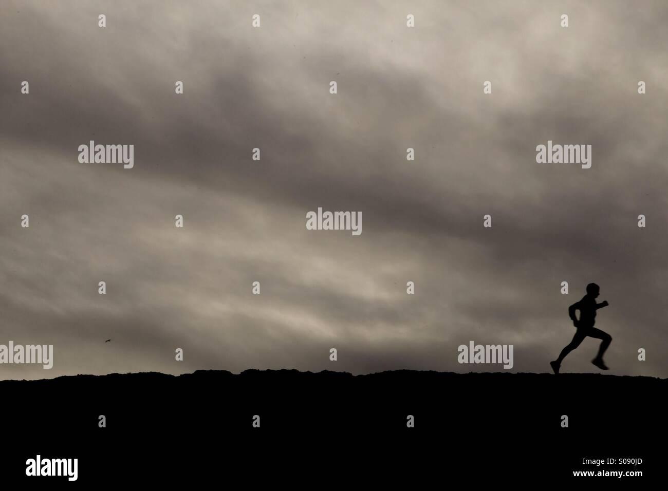 Running man 3 - Stock Image