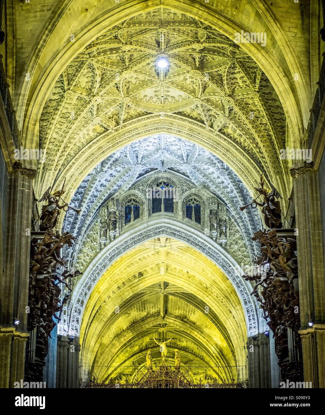 Catedral sevilla stock photos catedral sevilla stock - Catedral de sevilla interior ...