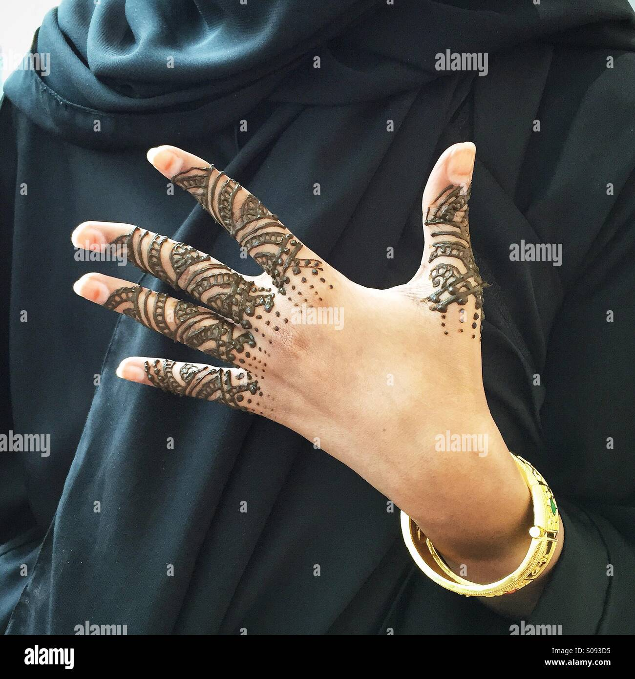 Hand Decorated Henna Qatar Stock Photos Hand Decorated Henna Qatar