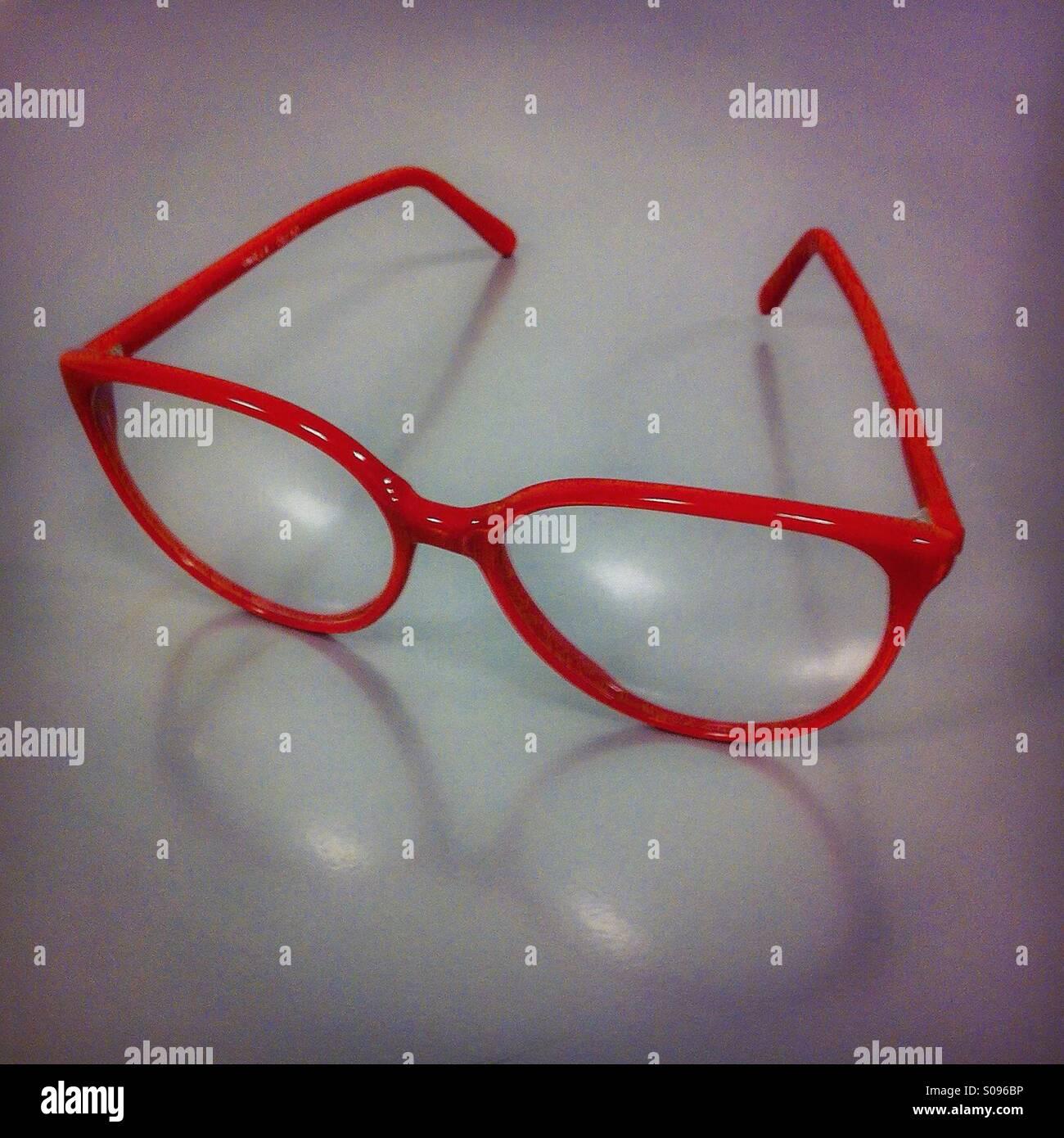 Red eyewear - Stock Image