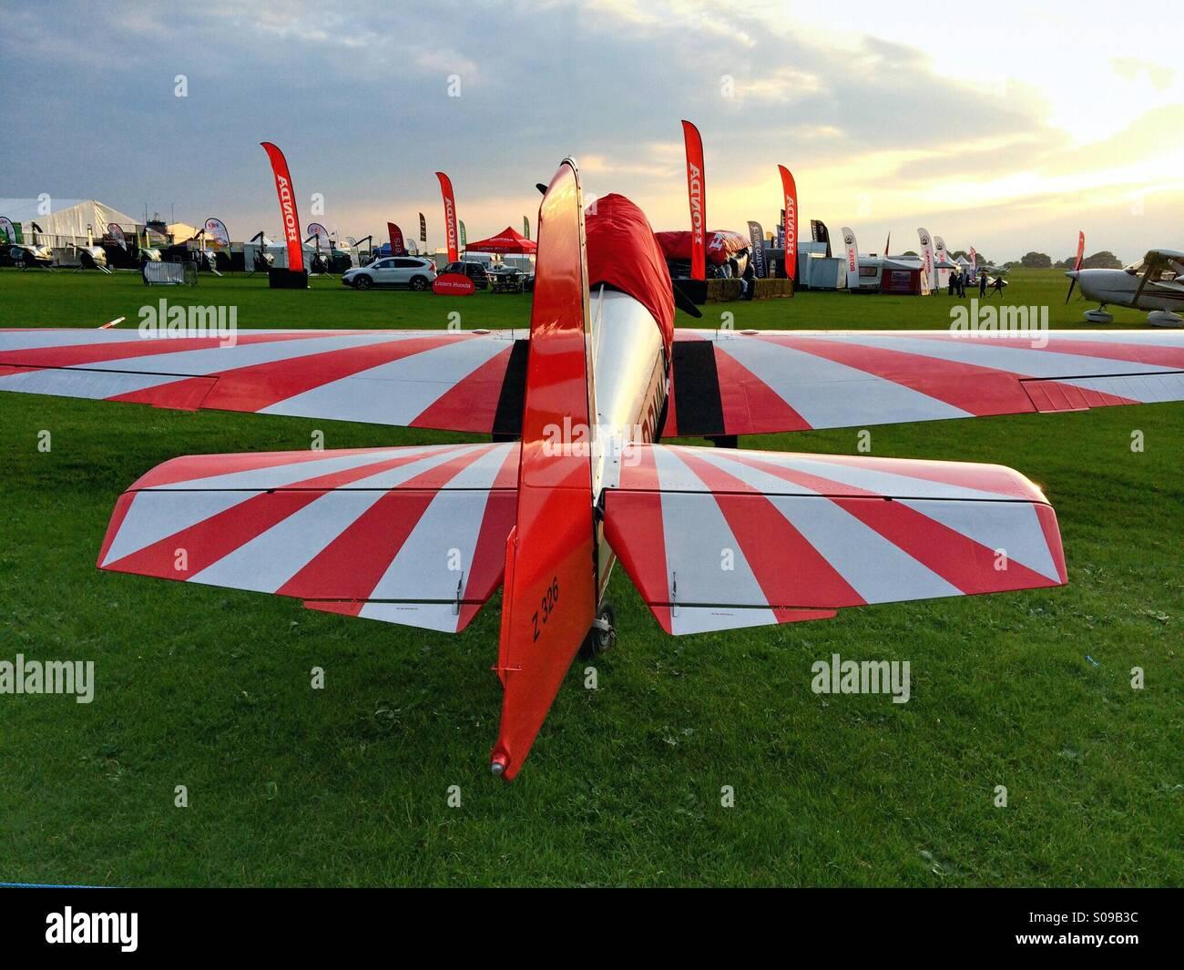 Zlin 326 Aerobatic Aircraft at AeroExpo Sywell - Stock Image
