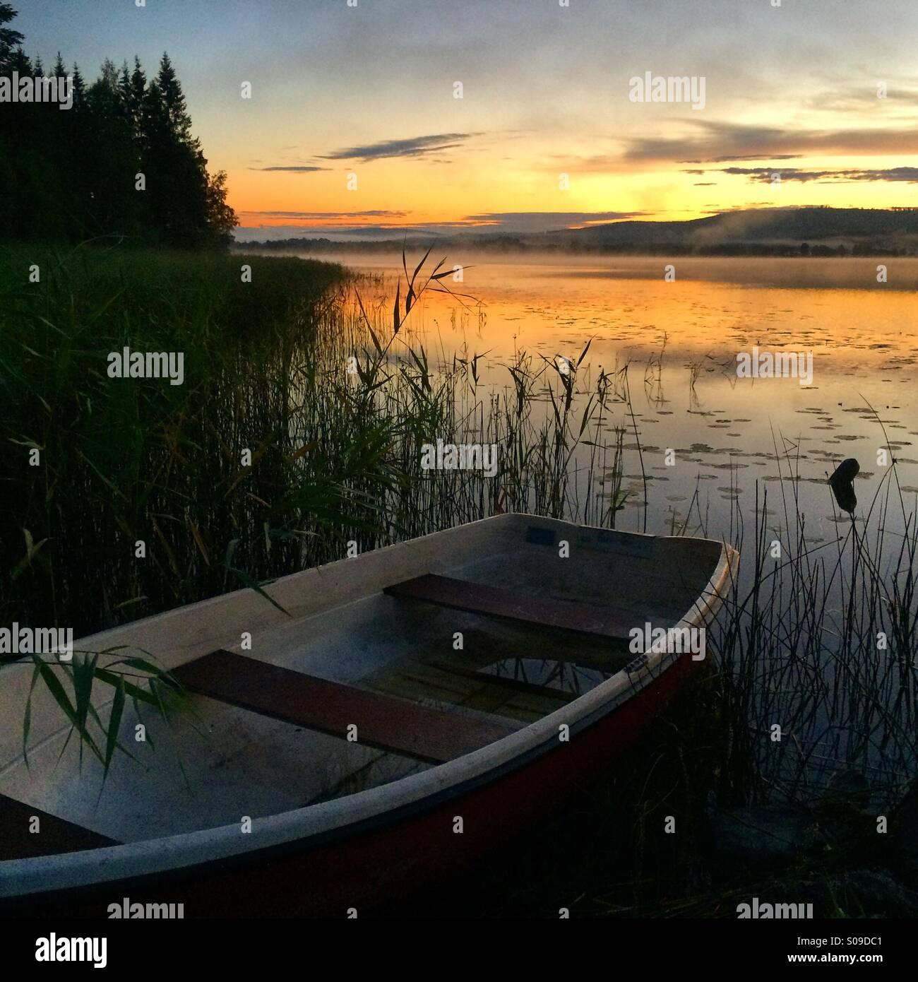 The lake 'Lilla Aspan' in Dalarna, Sweden. - Stock Image