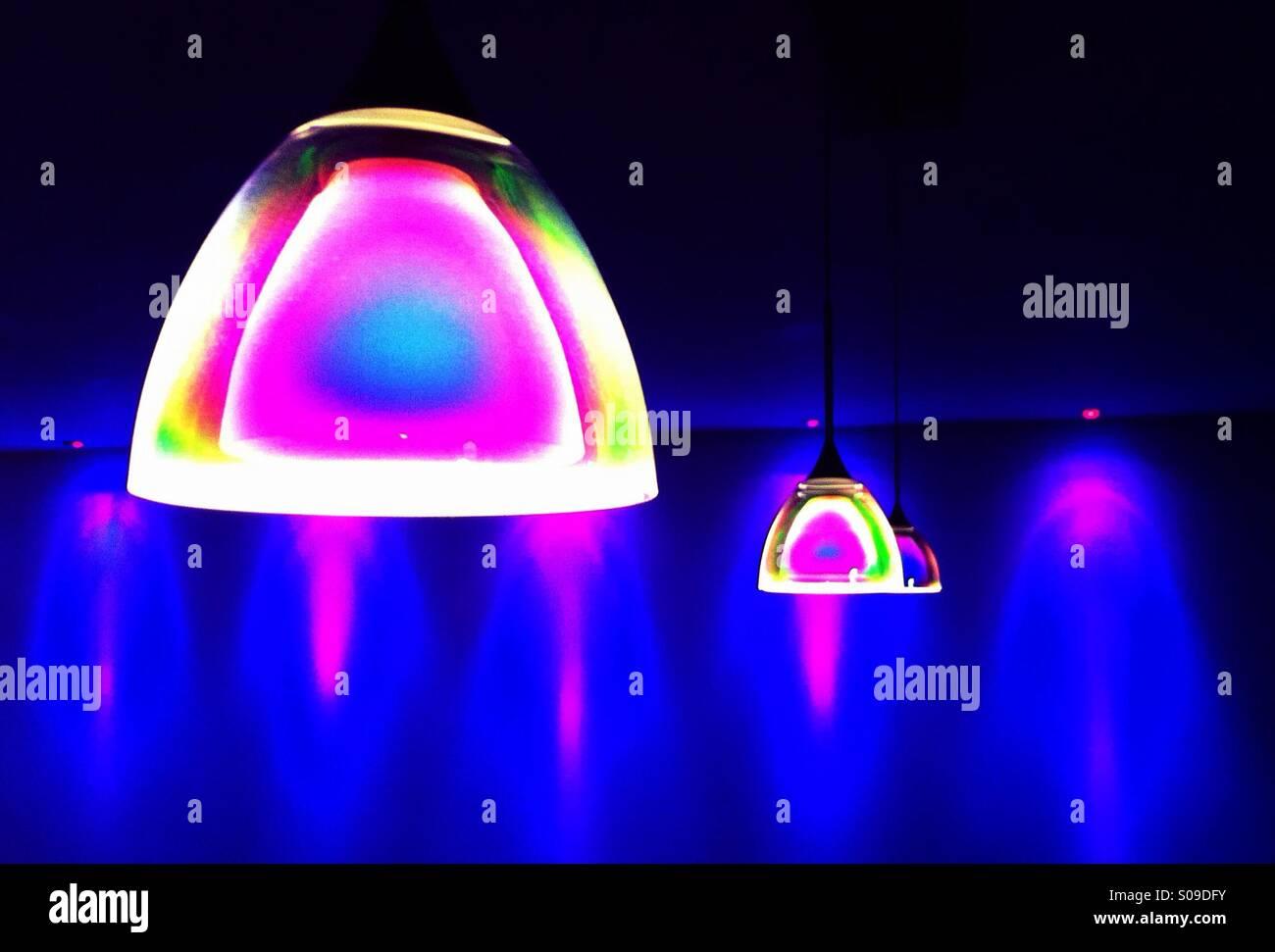 Colourful modern lighting Stock Photo