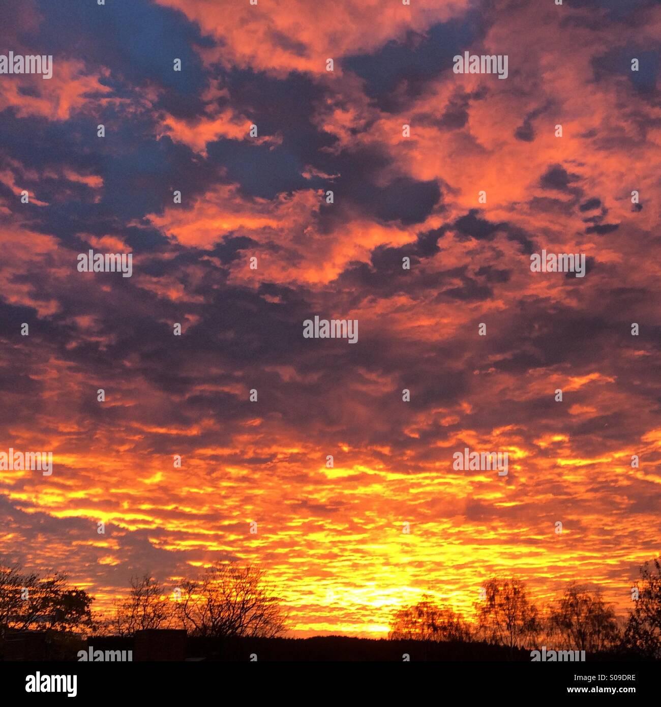 Sunrise in Vassbo, Dalarna, Sween - Stock Image