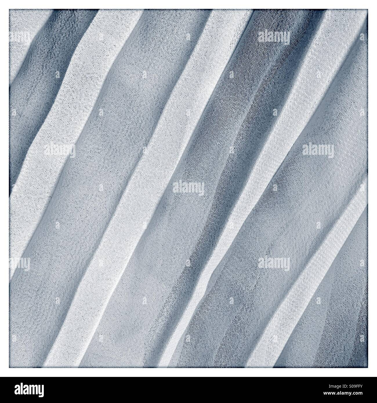 Pleated Fabric.   Toned - Stock Image
