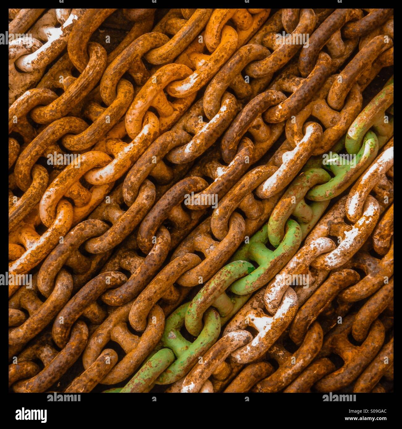 Rusty chains - Stock Image