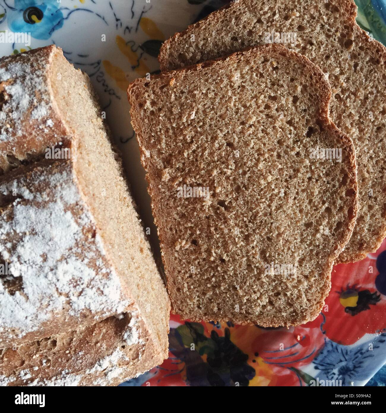Home made rye bread - Stock Image