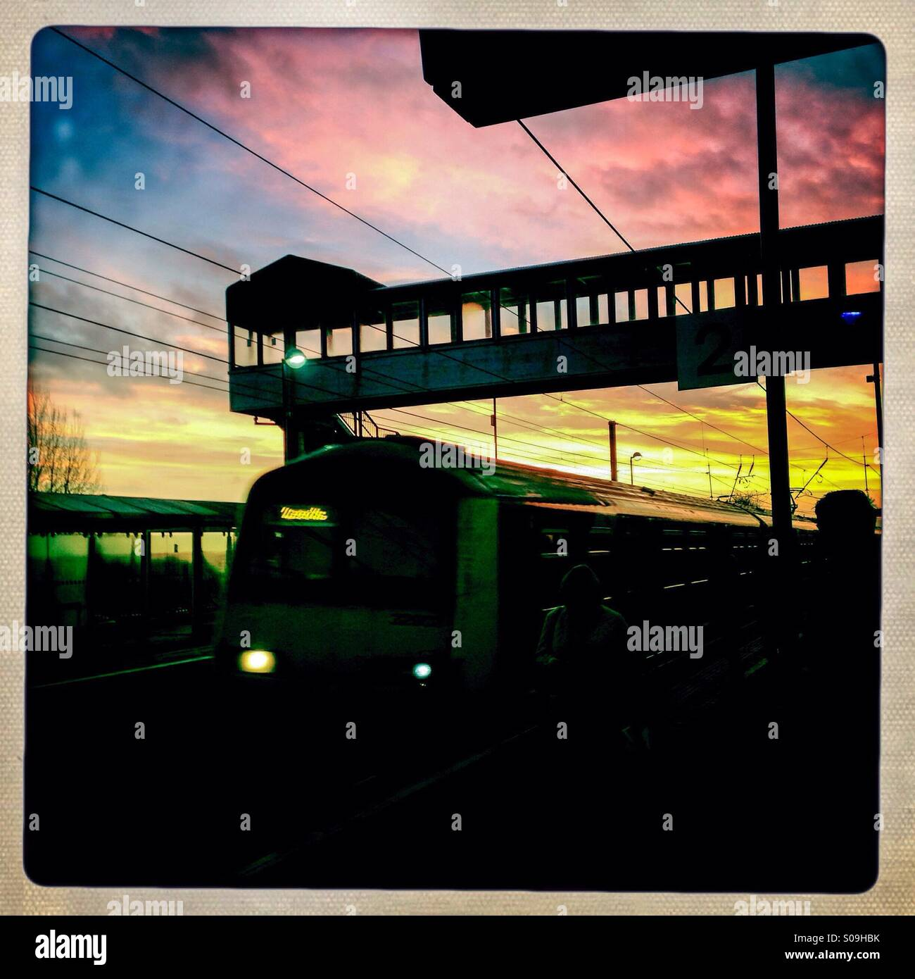 Rail commute - Stock Image