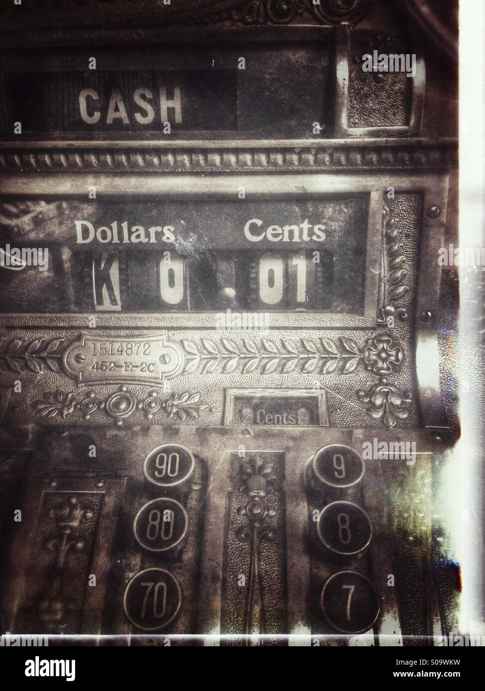 Antique cash register. - Stock Image