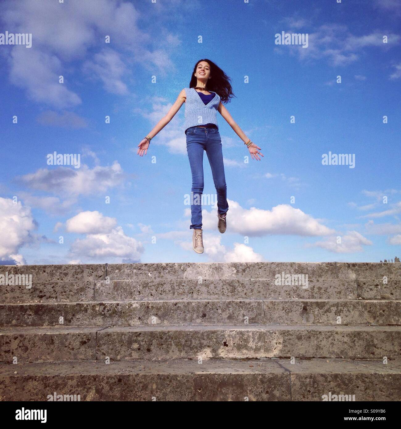 At the top of my heart - Stock Image