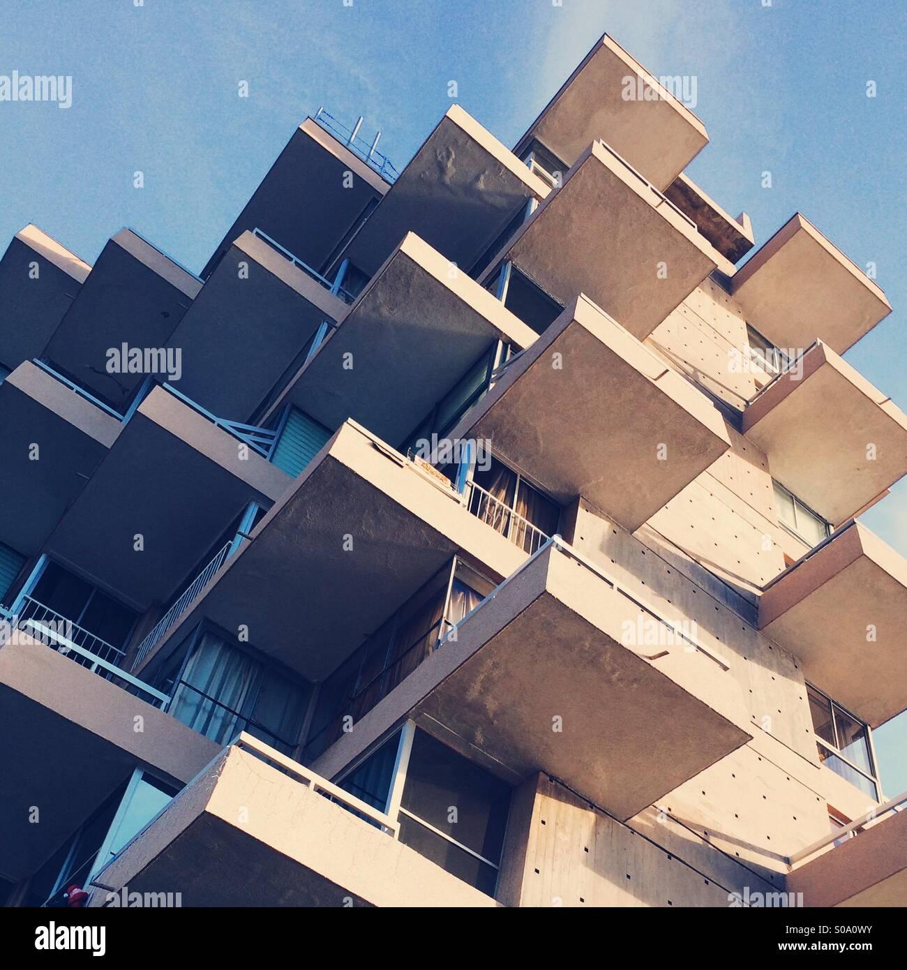 Building in Vina del Mar, Chile - Stock Image