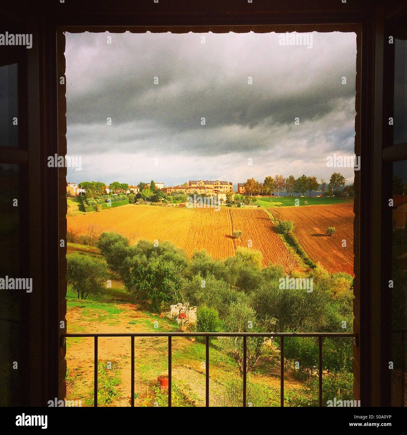 Autumn Lakes Apartments: View Of Tuscany Countryside From Balcony Of Apartment In