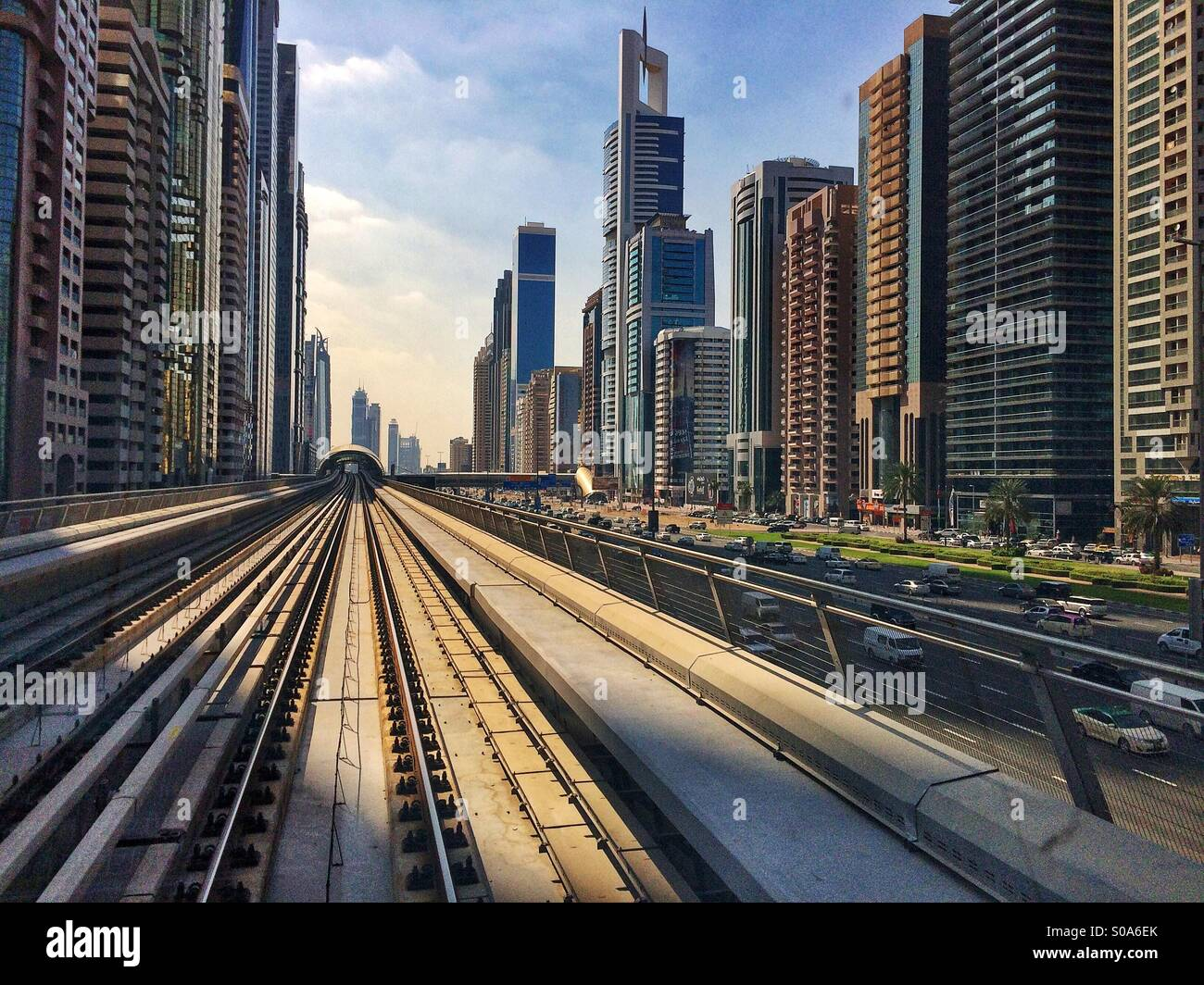 Dubai buildings - Stock Image