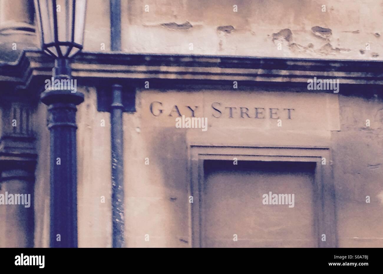 Gay Street - Stock Image