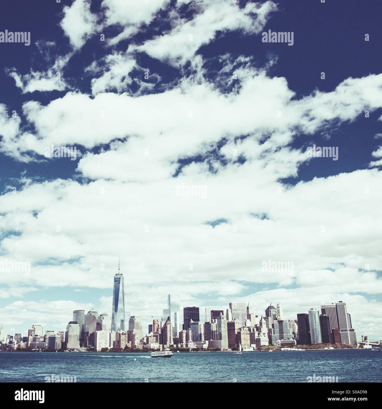New York City, Downtown Manhattan skyline - Stock Image
