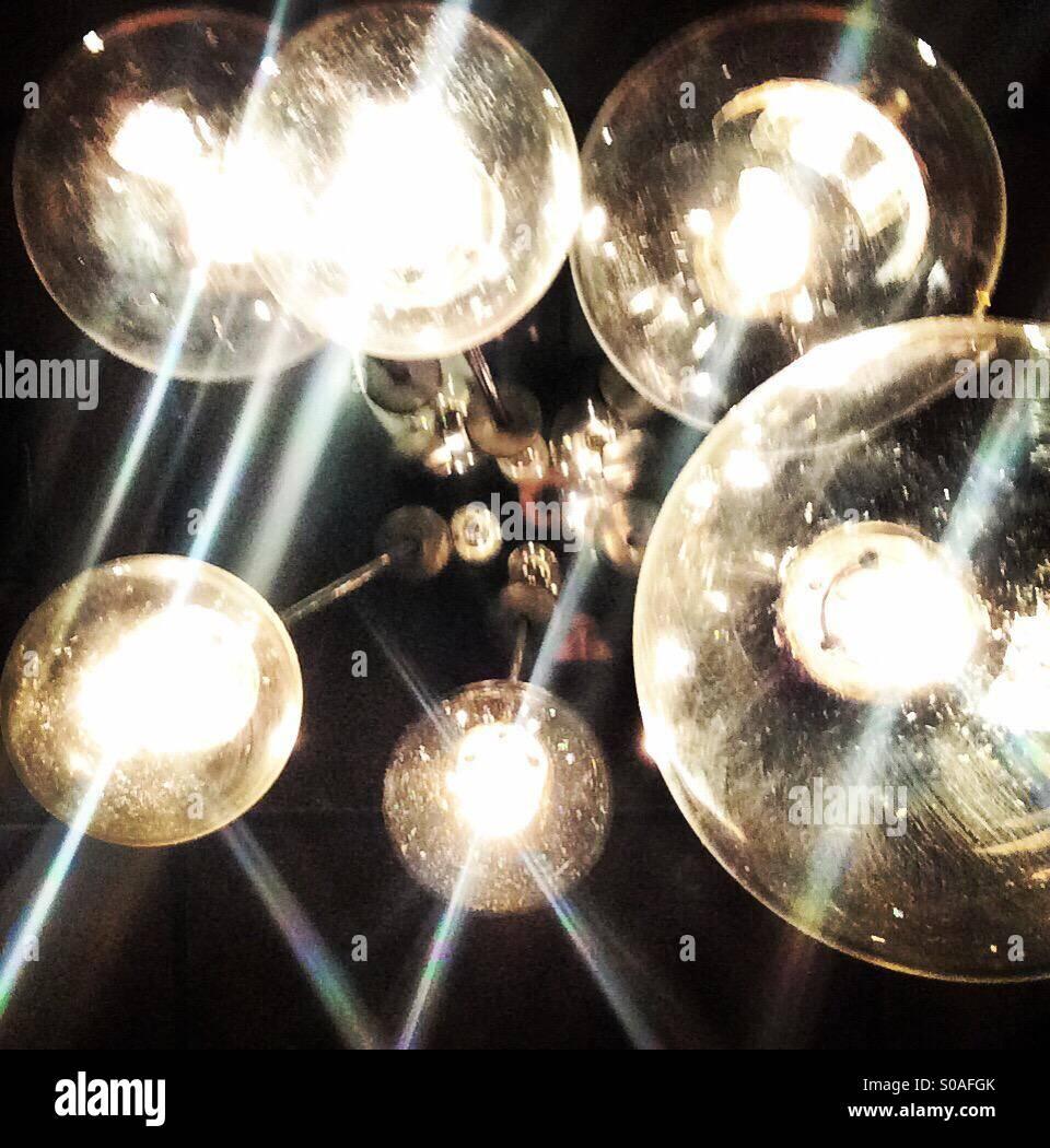 Edison lightbulb series - Stock Image